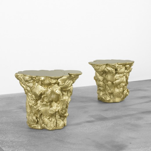 Fredrickson Stallard, Gold stools, 2007, estimated at  $5,000–7,000, bought in