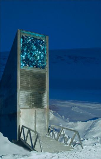 Svalbard Global Seed Vault, designed by BC Barlindhaug