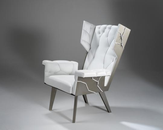 Kranen/Gille 'Fredersen Miami' Wingchair, 2008 image courtesy of Gallery FUMI