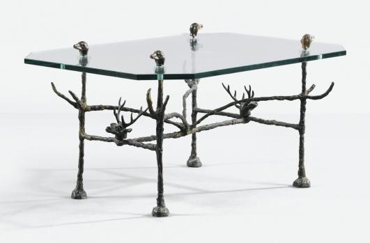 DIEGO GIACOMETTI TABLE AUX CERFS ET AUX CHIENS, 1978 Estimate   120,000 — 150,000 Lot Sold   231,000 EUR