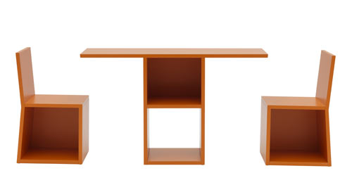 'Trick' as table and chairs