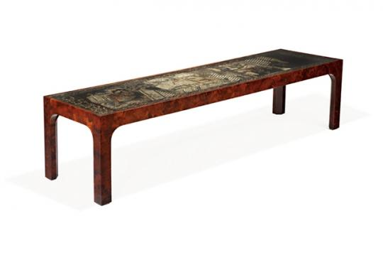 William Haines, Coffee table (circa 1948) estimated at $7,000 - 9,000, sold for $5,625