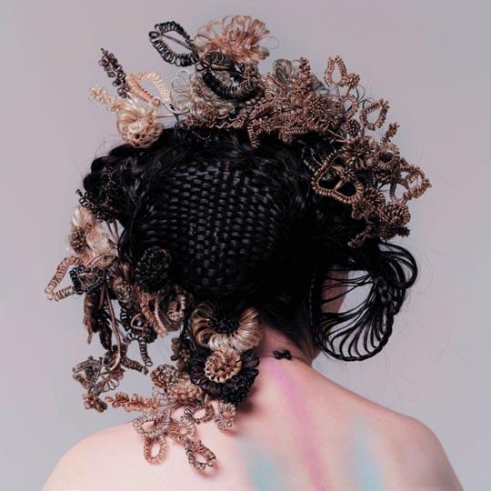 Hrafnhildur Arnardottir, Hair Sculpture for Bjork's Medusa, 2004