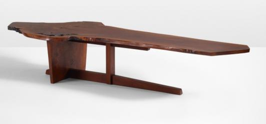 GEORGE NAKASHIMA Important Minguren II coffee table estimate: $120,000–180,000