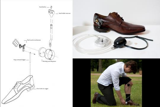 Shoe by Venessa Harden from her 'Subversive Gardener' Collection, 2010