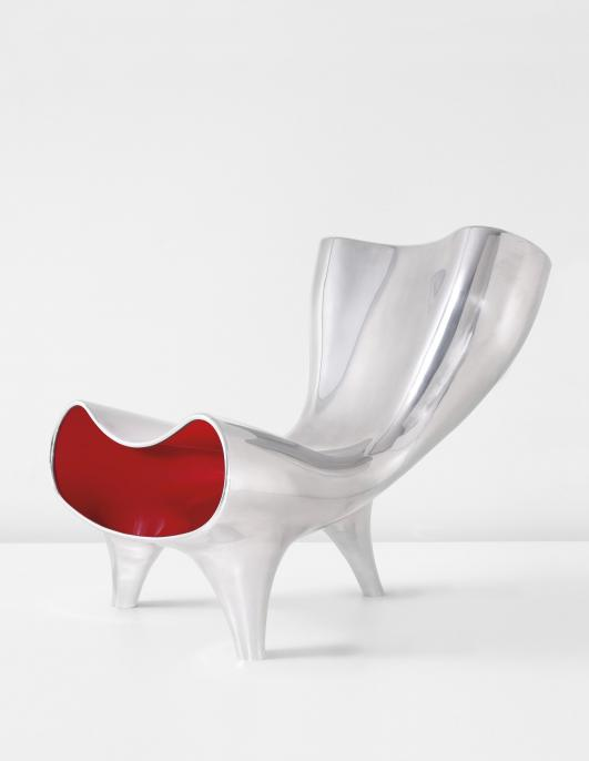 "MARC NEWSON ""Orgone Chair"", circa 1993 Estimate $280,000 - 380,000"