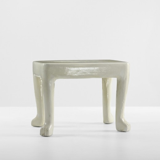 John Dickinson, table, 1975, estimated at  $7,000–9,000, sold for $8,750