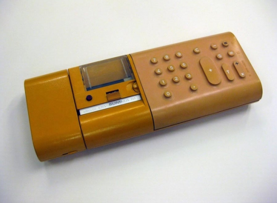 Divisumma 18 calculator designed in 1972 by Mario Bellini for Olivetti