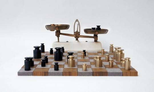 Rolf Sachs, Weighing up the Competition chess set, 2012