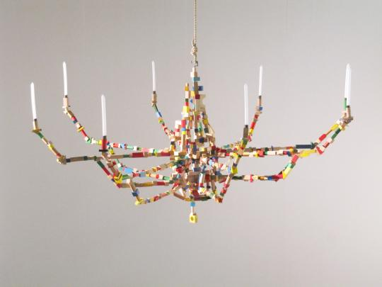 Brick Chandelier by Pete Heykoop