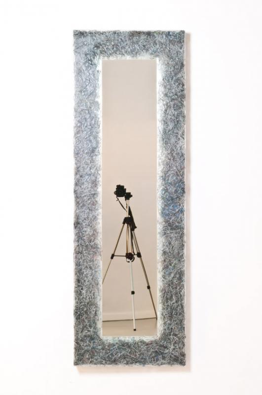 'Shredded' Mirror, Shredded series 4 ( Art+Auction ), 2014