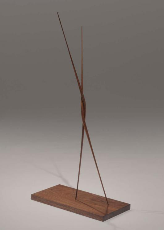 hand carved walnut \ 'Singularity' by Christopher Kurtz at Hedge Gallery