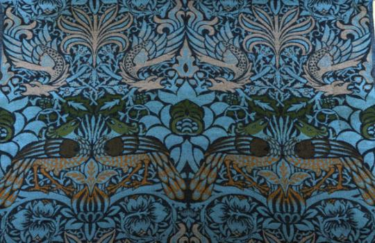 William Morris, Peacock and Dragon woven wool, 1878