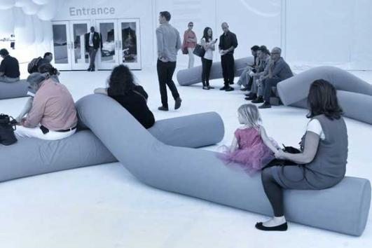 "Snarkitecture's ""Bend"" at Design Miami 2012 [photo : Markus Haugg]"
