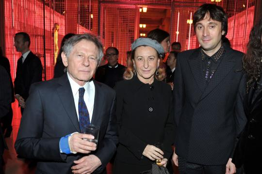 Roman Polanski, Miuccia Prada and Francesco Vezzol