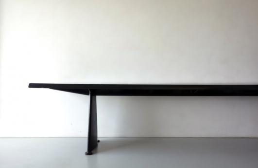Galerie Jousse Entreprise ''Trapeze'' table by Jean Prouve in 1954