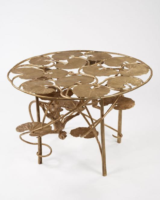 Claude Lalanne - Table Lotus et Singe Ronde en Bronze - 2013