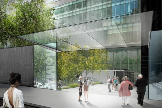 A rendering shows a proposed new entrance to the Museum of Modern Art's sculpture garden along 54th Street. (Museum of Modern Art / January 15, 2014)