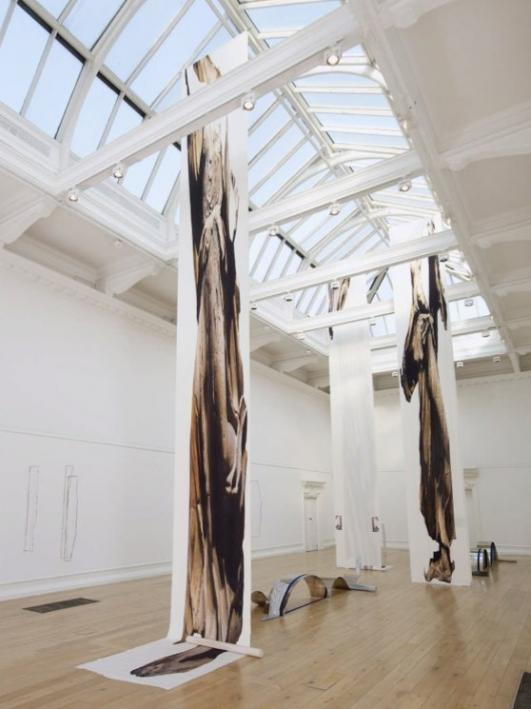 Alice Channer Installation view, Out of Body, South London Gallery  [Courtesy the artist and Lisa Cooley]