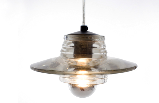 Pressed glass pendent lamp by Tom Dixon 2009