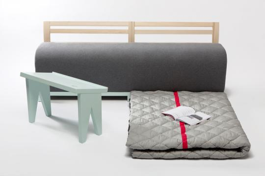 Soft fold Cabane by Marie Dessuant & Margaux Keller for Fabrica