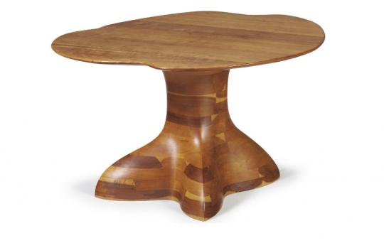 A Laminated Cherry Low Table by WENDELL CASTLE