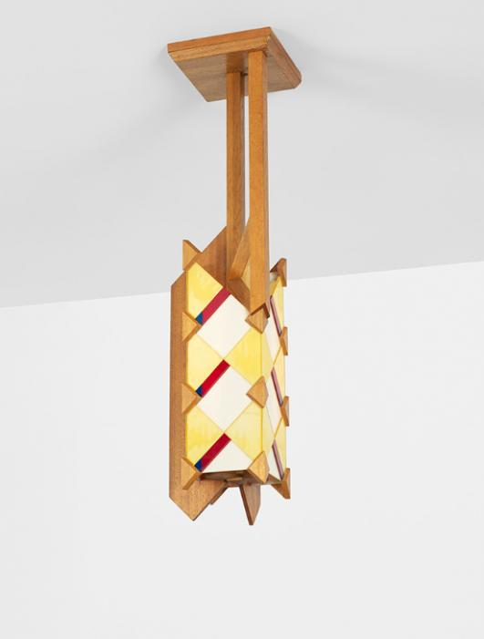 FRANK LLOYD WRIGHT Important chandelier from the Adelman House, Phoenix estimate: $30,000–50,000