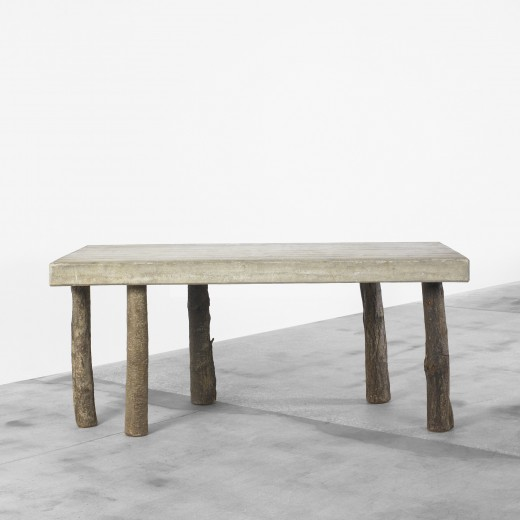 Jens Peter Schmid, Concrete table, 1986, estimated at $20,000–30,000, bought in