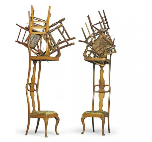 KAREN RYAN 'IN THE WOODS': A PAIR OF CHAIRS, DESIGNED 2009