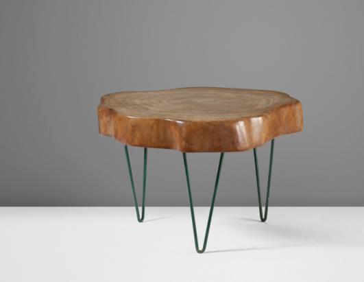 Rare Tree Trunk coffee table estimate: $70,000–90,000