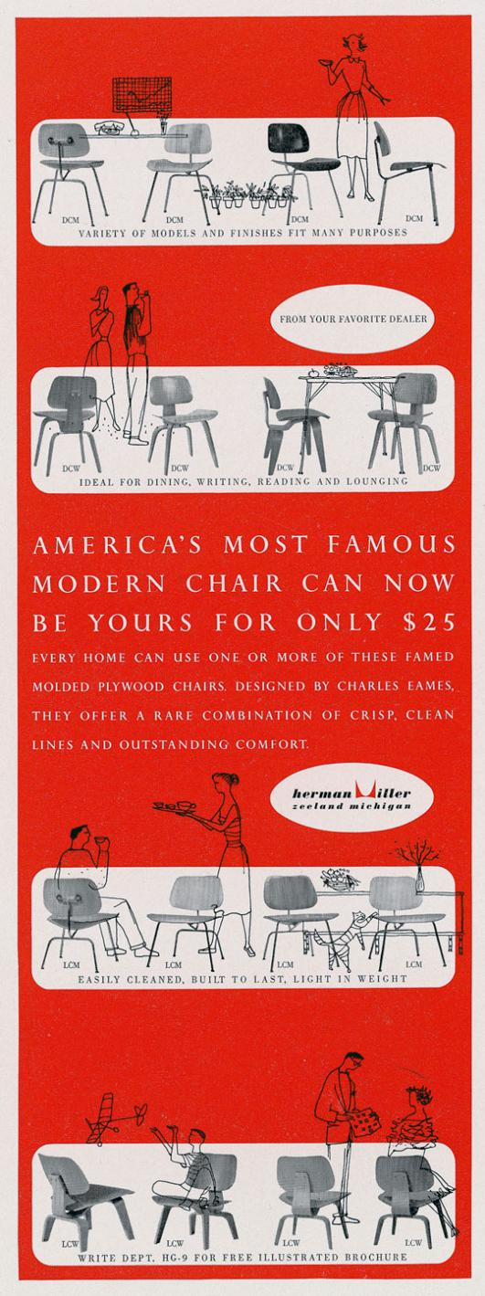 Advertisements for Molded Plywood Campaign, 1952