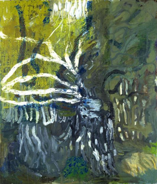 Per Kirkeby: Grün Frühling, 1988, Öl auf Leinwand, Louisiana Museum of Modern Art