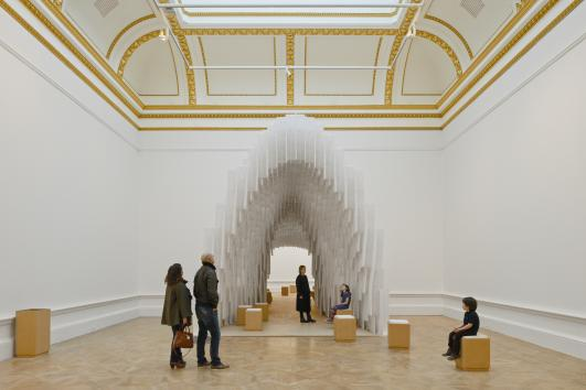 Installation by Diebedo Francis Kere.  Photo (c) Royal Academy of Arts, London, 2014. Photography: James Harris / (c) Kere Architecture