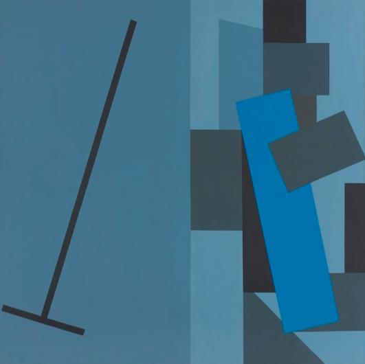 Paul Huxley Metronome 1979  acrylic on linen  203.2 x 203.2