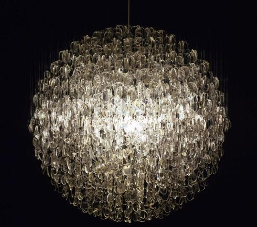 STUART HAYGARTH | OPTICAL CHANDELIER CLEAR (SMALL) [Image Courtesy of Carpenters Workshop Gallery]
