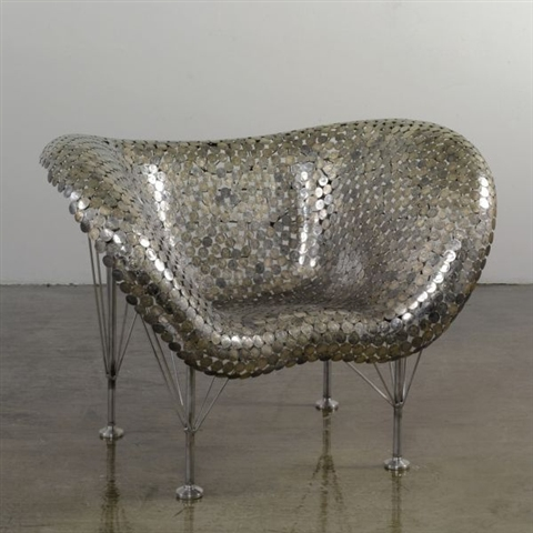 Johnny Swing, 'Chair (model Half dollar)', 2008, estimated at $25,000 - 35,000, sold for $80,500