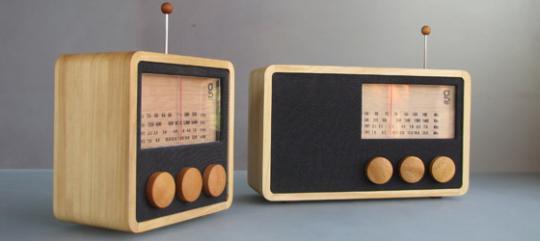 Magno wooden radios by Singgih S. Kartono