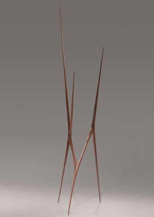 hand carved black walnut \ 'Singularity' by Christopher Kurtz at Hedge Gallery