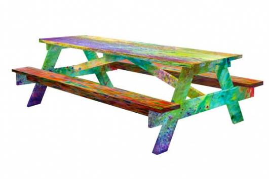 Picnic table rendering by Aaron Anderson and Eric Timothy Carlson [Courtesy of the artists]