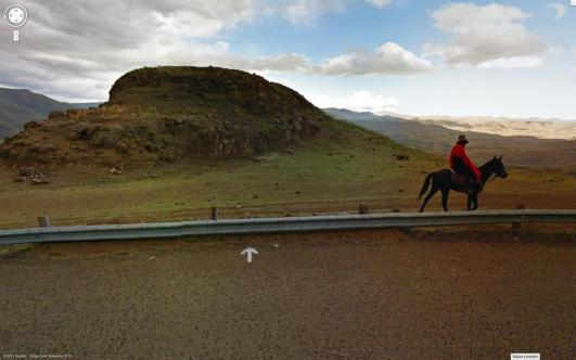 Jon Rafman, Unknown Road, Thaba-Tseka, Lesotho, Africa. From the seies Nine Eyes. 2013