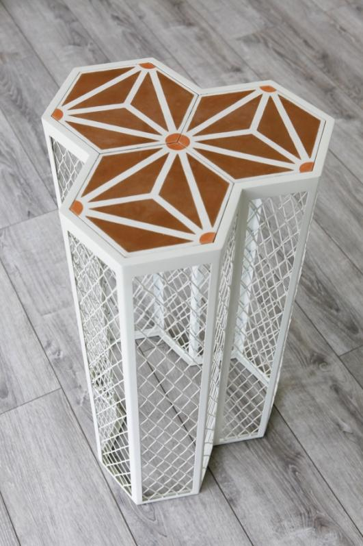 Derb Riad Pedestal Table by José Lévy