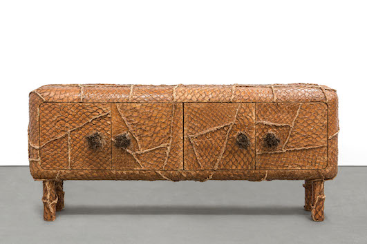HUMBERTO & FERNANDO CAMPANA | PIRARUCU BUFFET 2013 PIRARUCU'S LEATHER, STRAW AND WOOD