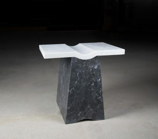 Nina Cho Coulee Side Table, 2016. Marble. Photo courtesy the artist.