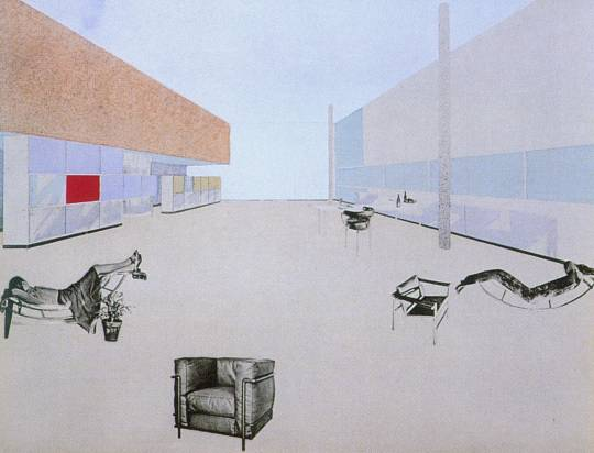 Le Corbusier, Charlotte Perriand and Pierre Jeanneret, Photo-collage on the Equipment intérieur d'une habitation installation , 1930