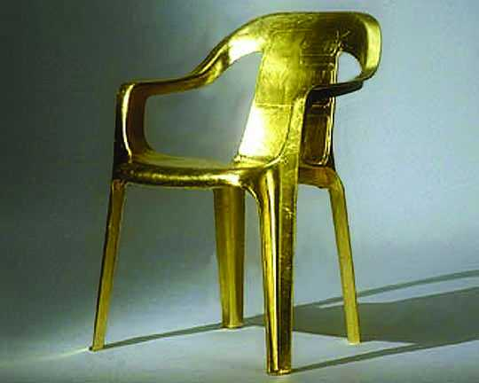Gold Chair by Studio Ball, as part of the Sustaining Desire Exhibition, 2005