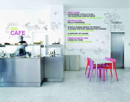 Design Museum cafe graphics (2003) - Graphic Thought Facility