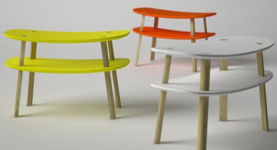 """""""Tori-i"""" stool by A+A Cooren"""