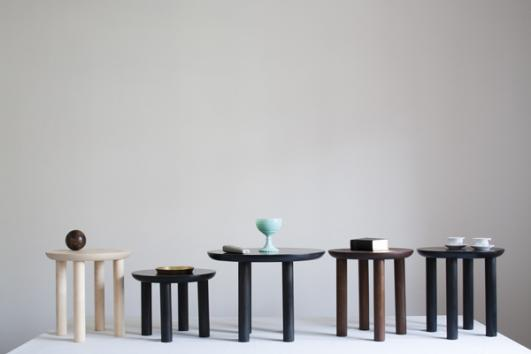 Wing Stool & Side Table by Karen Chekerdjian