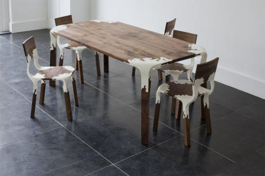 Limited Plastic Nature Table and Chairs by Alexander Pelikan