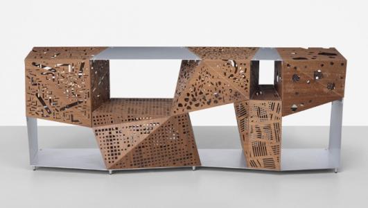 STEVEN HOLL Riddled cabinet E($10,000-$15,000)